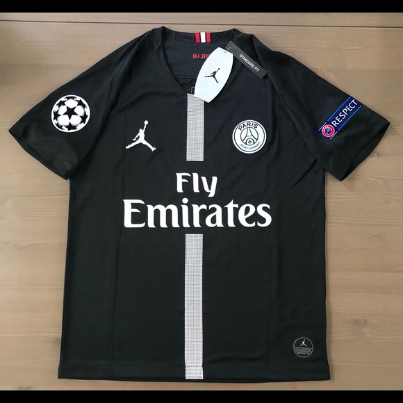 4c6895385 PSG Black Jordan Mbappe  7 soccer jersey men